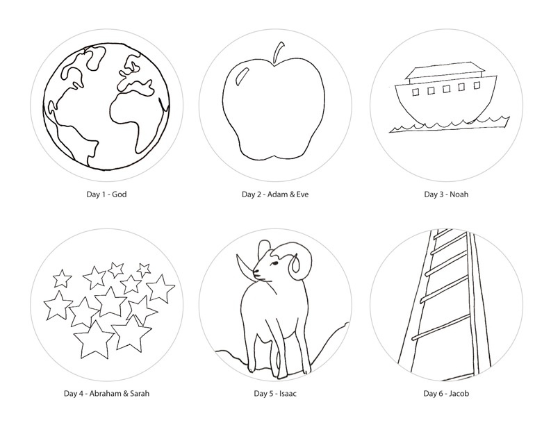 Jesse Tree Ornament Coloring Pages Coloring Pages